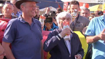 Zo damt Bernie Ecclestone boerenprotest in op circuit Spa-Francorchamps