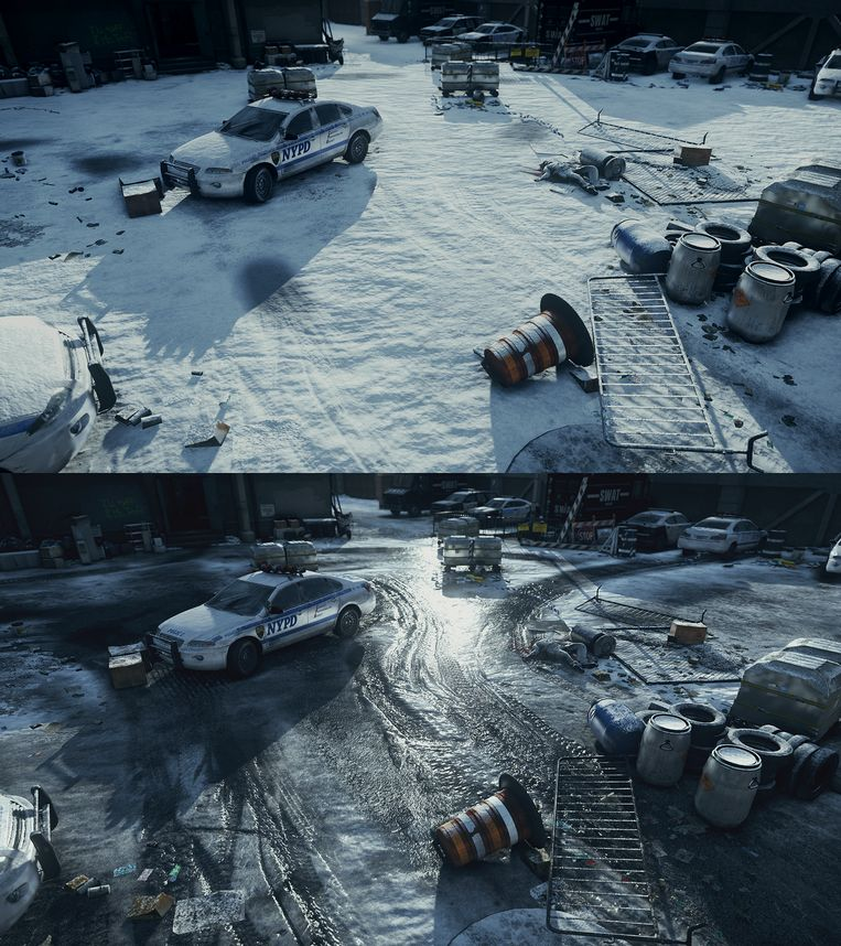 Realistische sneeuw in The Division Beeld Ubisoft
