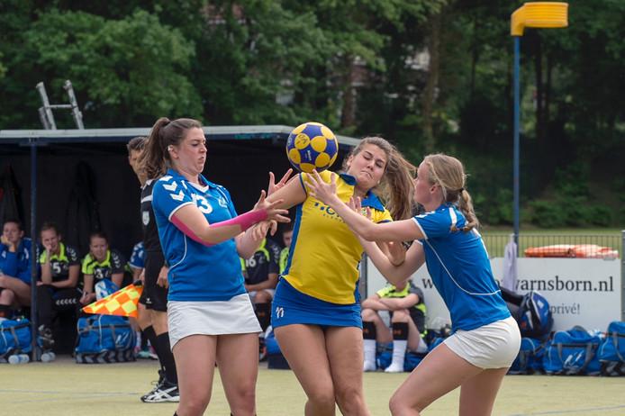 Korfballers Oost-Arnhem in actie. Archieffoto.
