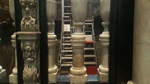 Ladders in de  Sint-Baafs-kathedraal