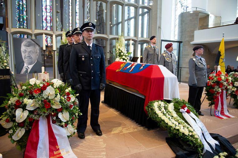 De begrafenis van Lübcke. Beeld REUTERS