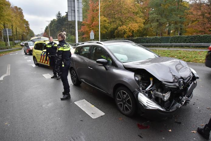 Bij een verkeersongeluk op de Neerbosscheweg in Nijmegen raakte niemand gewond.