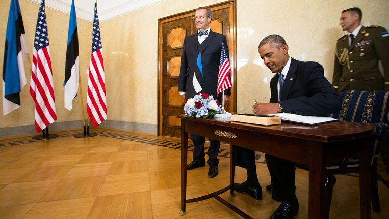 President Barack Obama in Estland Beeld epa