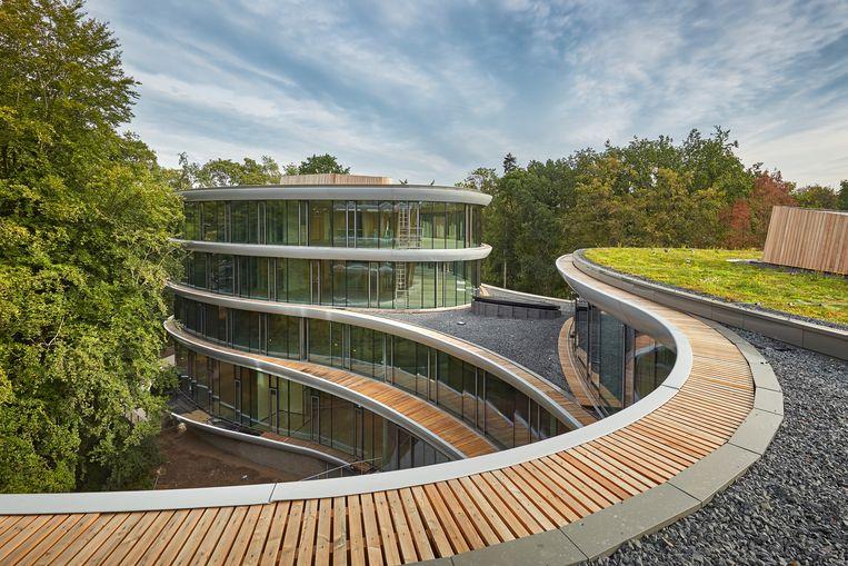 Het kantoor van Triodos in Zeist, ontworpen door Rau Architecten. Beeld Bert Rietberg / J.P. van Eesteren