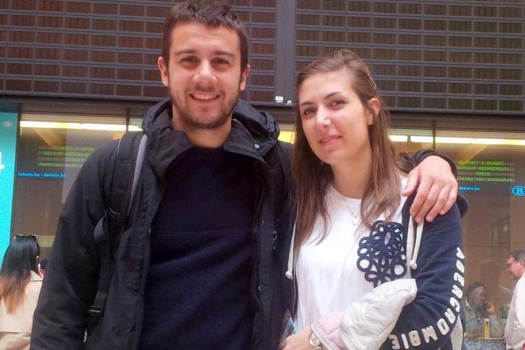 Het gestrande koppel Tommaso en Eleonora.
