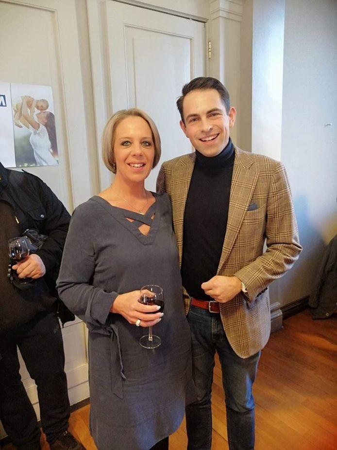 Katrina Langlet, in februari nog goede maatjes bij voorzitter Tom Van Grieken