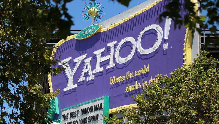 Een billboard van Yahoo! Beeld getty