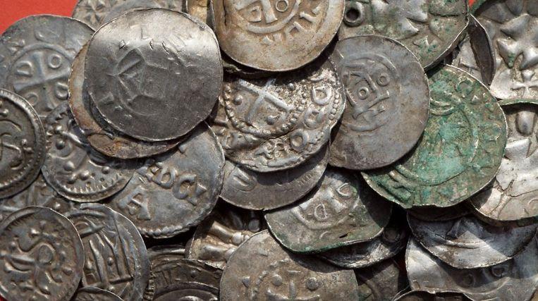 Een deel van de ontdekte munten.