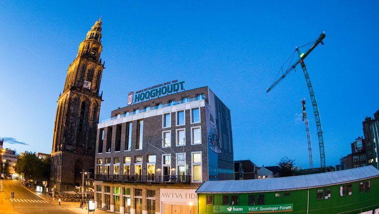 Het gebouw van de Groningse studentenvereniging Vindicat in het centrum van Groningen. Beeld ANP
