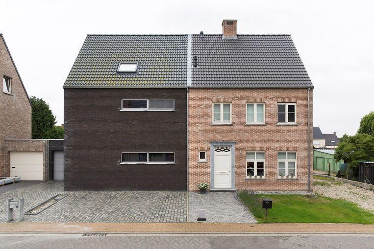 Buurhuizen in België, in Zandvliet (2014). Een foto uit de serie die Hans van der Meer maakte voor Document Nederland. Beeld Hans van der Meer