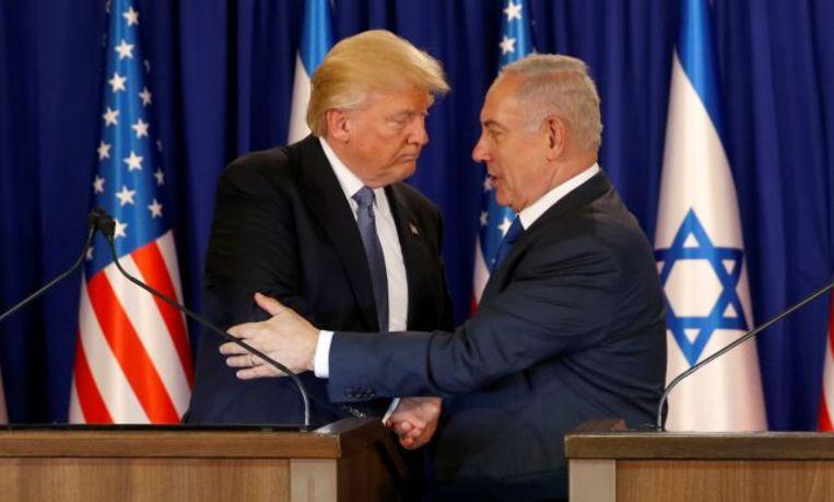 President Donald Trump ontmoette de Israëlische premier Benjamin Netanyahu vorig jaar in mei.