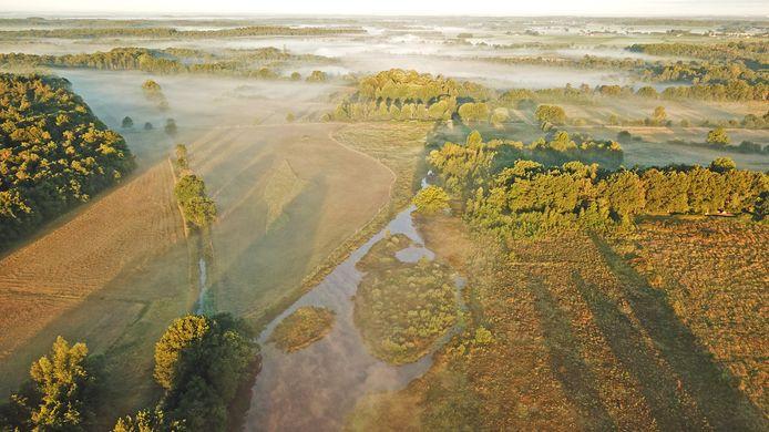 Luchtfoto van de Pannenhoef.