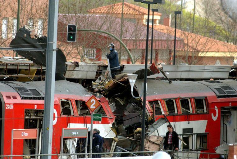 De bomaanslag op de Madrileense metro in 2004 was de dodelijkste aanslag ooit op Spaans grondgebied. Beeld ap