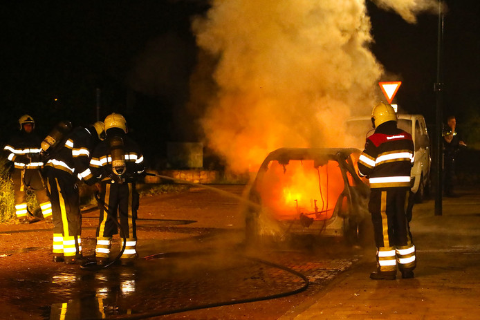 De autobrand in Berghem.