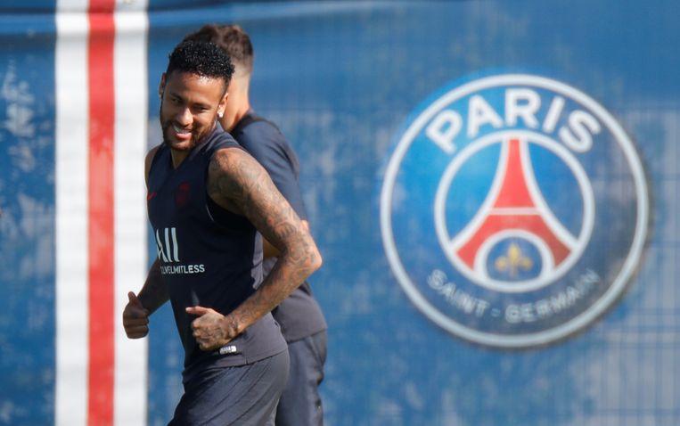 Neymar op training bij PSG