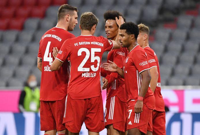 Bayern viert een van de acht goals.