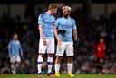 Kevin de Bruyne en Sergio Agüero, twee sterspelers van Manchester City.