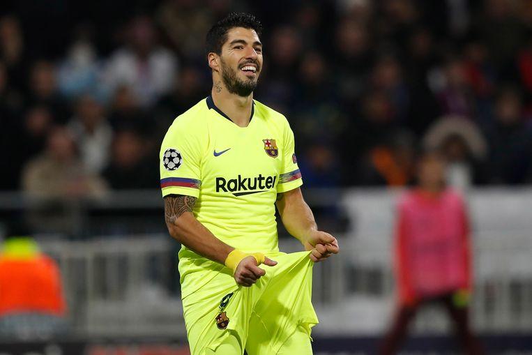 Luis Suarez speelde een erg ongelukkige partij in Lyon.