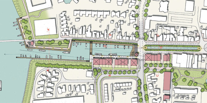 Het plan om de oude haven van Raamsdonksveer door te trekken richting het centrum moet waarschijnlijk in de wachtkamer.