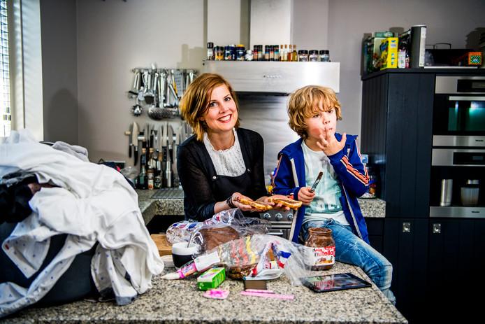 Ida Kersseboom is dolgelukkig met dochter Puk en zoon Siem (rechts).