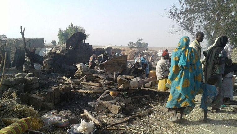 Foto`s van de puin na het abusievelijke bombardement, geleverd door Artsen zonder Grenzen. Beeld reuters