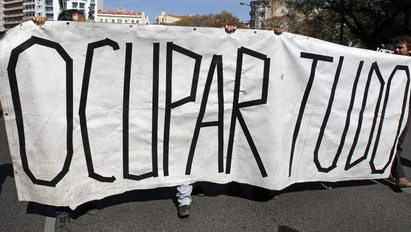 Beeld van een mars voor meer werk in Lissabon in 2012.