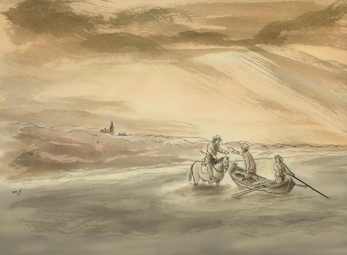 Jean-Marc van Tol zorgde voor de illustraties bij het boekje 'Johan de Witt en Engeland'.