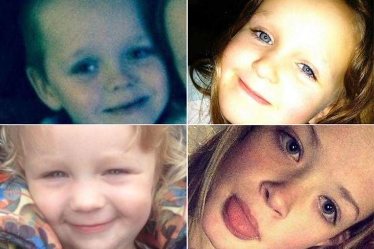 De vier gestorven kinderen.