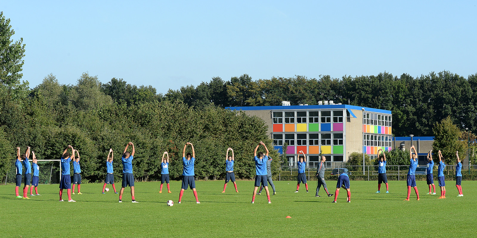 De nationale ploeg van Kroatië onder 17 jaar op trainingskamp bij Juliana in Mill.