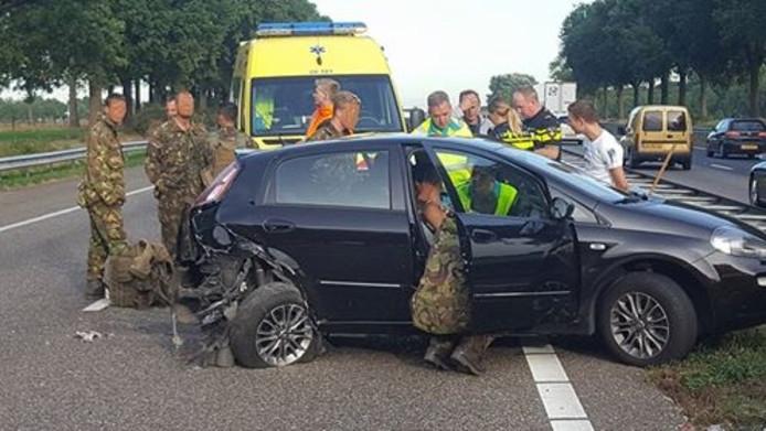 Commando's schoten dinsdag te hulp op de A58.
