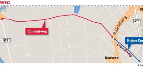 Snelheid omlaag op Conradsweg en Stadsweg tussen  Staphorst en Zwartewaterland