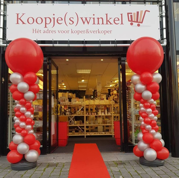 Foto Klein is voortaan de Koopje(s)winkel.