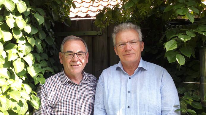 Jan van den Heuvel (links) van de Rekenkamercommissie Boxtel en Hans Kessens van de Rekenkamercommissie Meierijstad werkten mee aan het onderzoek 'AgriFood Capital in beweging'. Zij presenteerden woensdagavond hun rapport aan de raad van Meierijstad.
