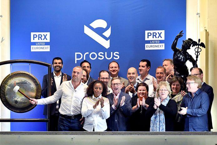 Techinvesteerder Prosus noteert op de beurs van Amsterdam.