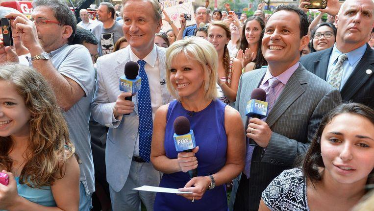 Gretchen Crlson in haar tijd als Fox-journalist Beeld afp