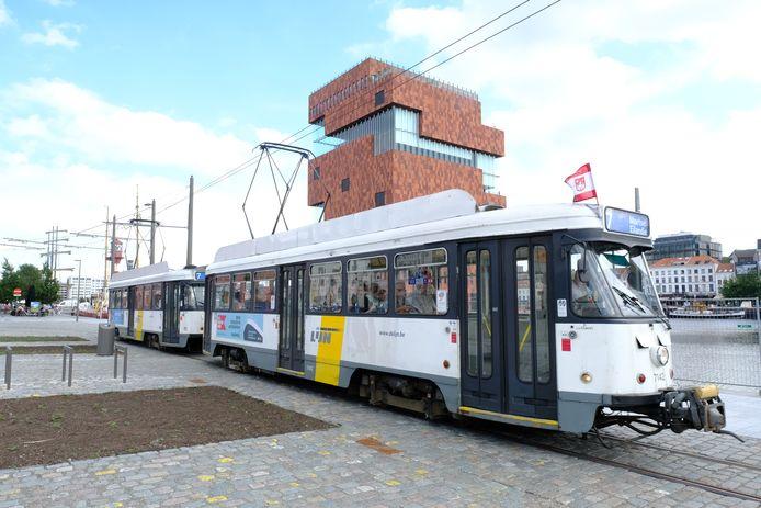 Tram 7 op het Antwerpse Eilandje