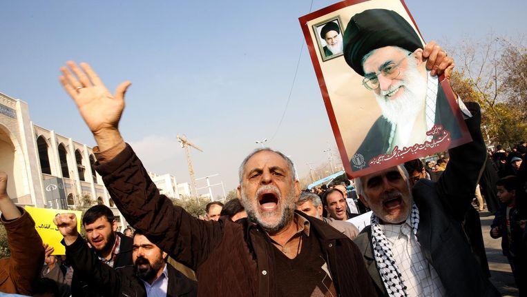 Protest in Teheran, Iran. Beeld anp