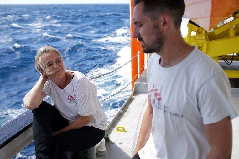 Arts Erna Rijnierse aan boord van de Aquarius. Beeld
