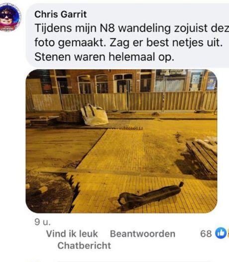 Deze nachtbraker helpt stratenmakers in Groningen ongevraagd een handje