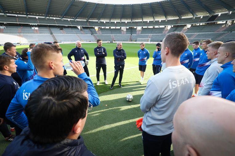 De IJslanders vandaag in het Koning Boudewijnstadion.