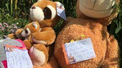 """Familie Kayleigh laat knuffels en bloemen achter op plaats ongeval: """"Lieve poppemie, ik mis je verschrikkelijk"""""""