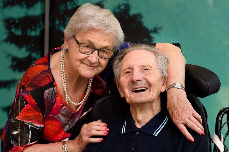 Marijse Blommé en Vic Mertens zijn 65 jaar getrouwd.