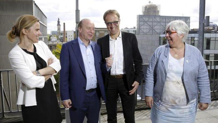 De beide kandidatenteams om het rectoraat van de UGent.