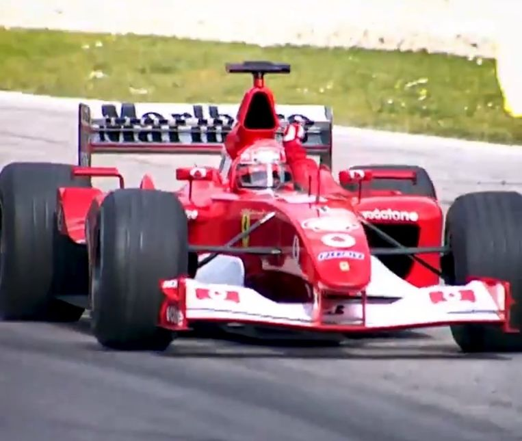De F2002 van Michael Schumacher.