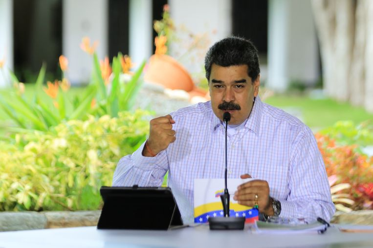 De Venezolaanse president Nicolás Maduro Beeld Hollandse Hoogte/AFP