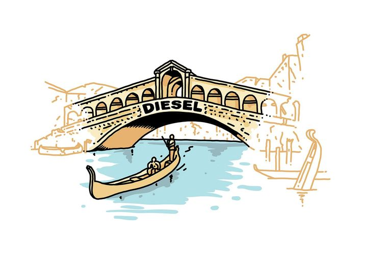Monument: Rialto-brug, Venetië. Opgeknapt door: Diesel. Bedrag: 5 miljoen euro. 2012-2017 (afgerond). Beeld Olivier Heiligers