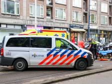 Scooterrijdster zwaargewond bij eenzijdig ongeval op Goudsesingel