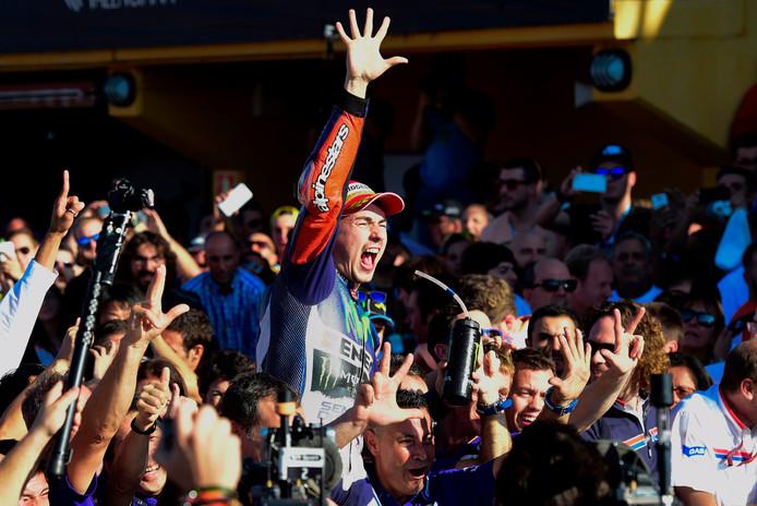 Jorge Lorenzo na zijn derde wereldtitel in de MotoGP.