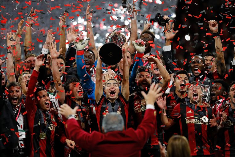December 2018, Atlanta United viert het Amerikaans kampioenschap. Beeld AFP