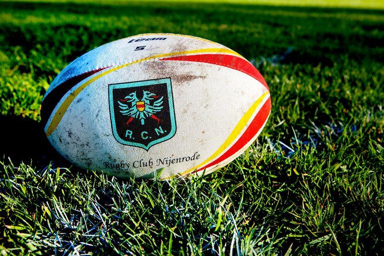 De bal van Rugby Club Nijenrode, verbonden aan de Business Universiteit Nyenrode. Beeld Maarten Hartman